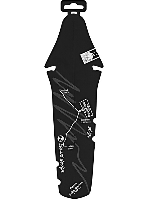 rie:sel design rit:ze Spatbord Passo dello Stelvio zwart